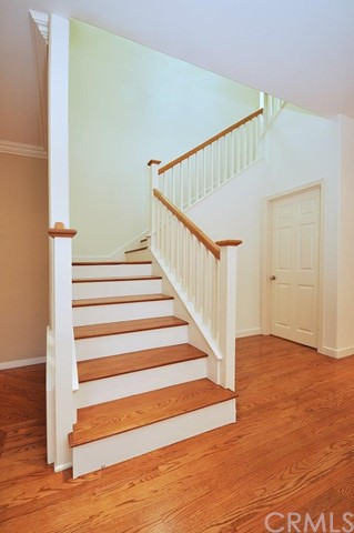 Staircase at entryway