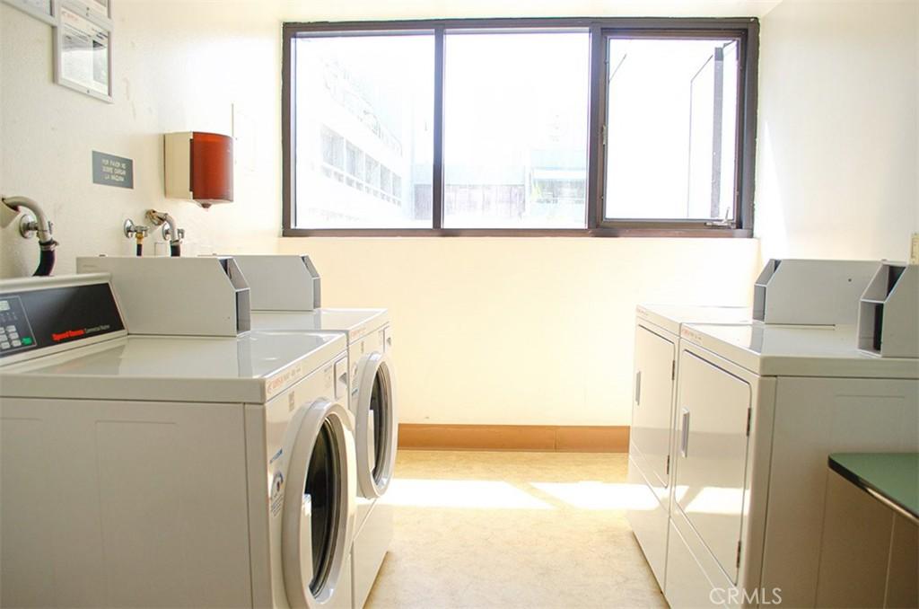 Community Laundry on same floor as unit