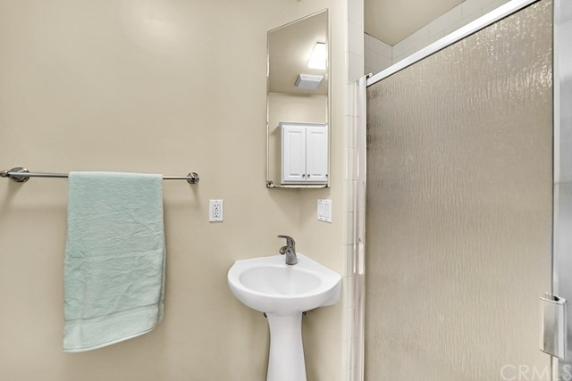 man floor master has a large shower