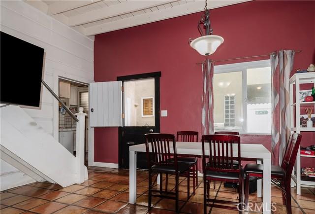 Rear Unit Dining Area With Split-Dutch Door To Patio