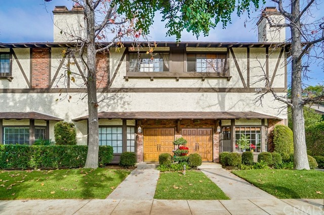 Located across street from Arroyo Vista Elementary in South Pasadena. This spacious, split-level townhome has two bedroom and a den with a full bathroom. The den is advertised as the third bedroom. The unit has wood double doors open to soaring cathedral ceilings, a rustic rock fireplace, and built-in shelving in the foyer. The mezzanine level boasts a large kitchen equipped with ample storage and new stove and dishwasher. Upper level features a generous master suite with attached bath, and an additional bedroom and full bath. Thoughtfully designed to maximize comfort, this unit features large closets, security system.