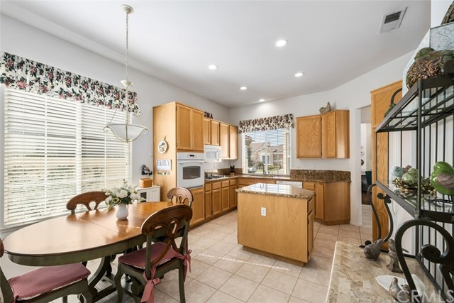 Spacious kitchen and center island