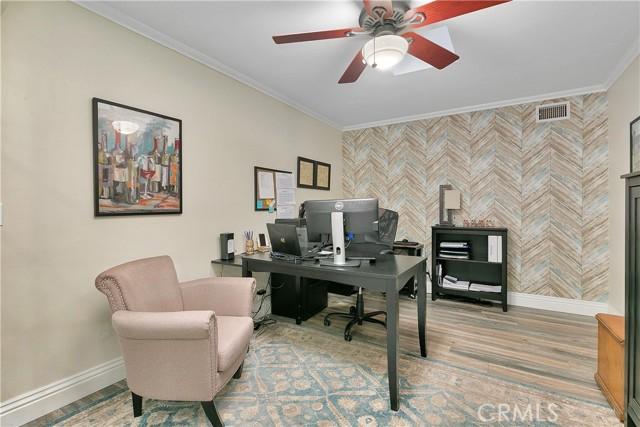 Office/den/bonus room with skylights.