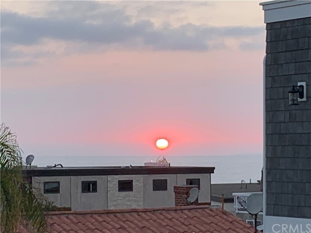 Sunset view from deck