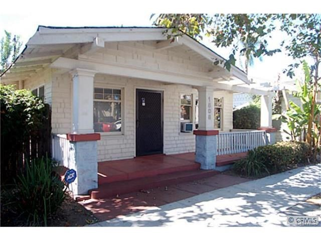 Adorable bungalow one block from the beach. Remodeled kitchen with granite counters and attractive cabinetry.  Remodeled bath with pedestal sink and contemporary porcelain tiling.  The home has a gas stove, refrigerator and an inside laundry area with washer and dryer included. Hardwood floors, a mock fireplace and built-ins add to the charm. Off street parking is a tenant shared driveway. It also includes a shared backyard which acts as a central courtyard for the four houses on the property. Ideally located within minutes to all the best attractions Long Beach has to offer.