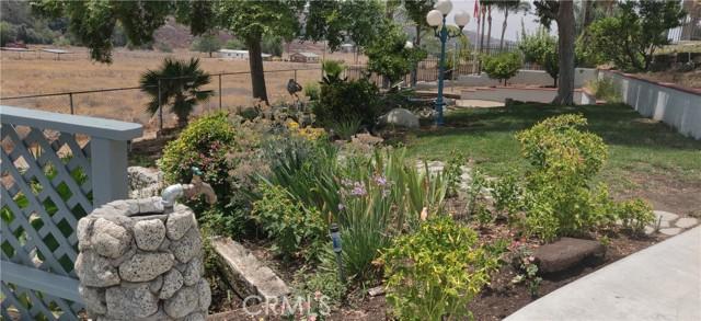 Lush flower & vegetable gardens