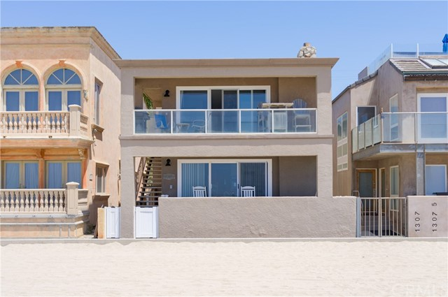 Stunning 180-degree ocean and Seal Beach Pier views! Prime beachfront multifamily triplex offers a spacious and remodeled 3 bedrooms, 1.5 bathrooms second-floor owner's unit including granite counters, white cabinetry, stainless steel appliances, vinyl wood plank flooring, remodeled bathrooms, and a rustic rock fireplace with stone hearth. The downstairs unit is a large 3 bedrooms, 1.75 bathrooms with an ocean view balcony, separate dining area, rustic rock fireplace. The third unit is a 1 bedroom, 1 bathroom located on the second level toward the rear of the property. Property features gorgeous ocean views from balconies and main living spaces, vinyl windows, spacious unit sizes, a separate laundry room, and a two-car garage. Located a short stroll to Main Street restaurants, boutiques, and the lovely Seal Beach pier!