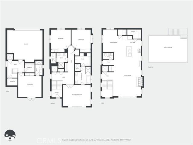 Floor Plan for 959 5th Street Unit A Hermosa Beach