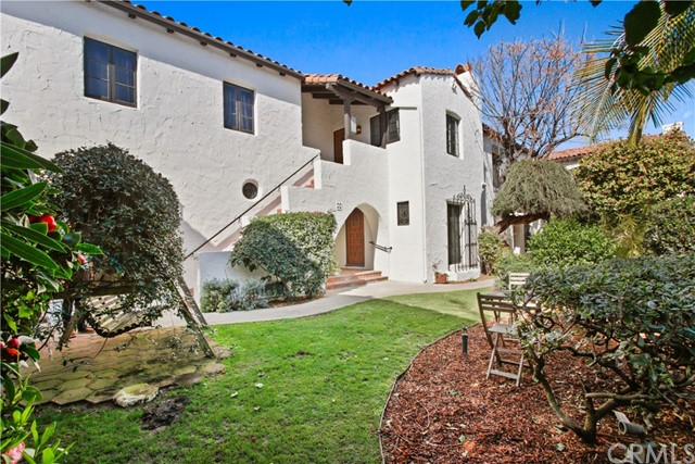 """We are pleased to present a 13-unit multifamily property. Built in 1927, Casa del Patio is a quintessential example of Spanish Colonial Revival. The subject property consists of 9,286 rentable square feet spread throughout a 9,226 square foot lot. The building consists of six studio units, six 1-bedroom / 1-bathroom units, and one 2-bedroom / 1-bathroom unit. It contains five Lift Master mechanical garages and numerous private and communal patios for tenants. The units were fully renovated and re-imagined, including creative amenities such as hardwood floors, vaulted ceilings, and open living areas. The layout for each unit was redesigned to maximize living space, emphasize natural light, and to accentuate architectural elements. The complete renovation ensured the building would be brought up to current standards post Title-24. This included all new interiors, new kitchens and bathrooms, new washers / dryers in every unit, new wiring, new HVAC, new plumbing and sewers, foundation upgrades, new commercial-grade water heater, replaced missing roof tiles, exterior paint, 2"""" water main, and landscaping."""