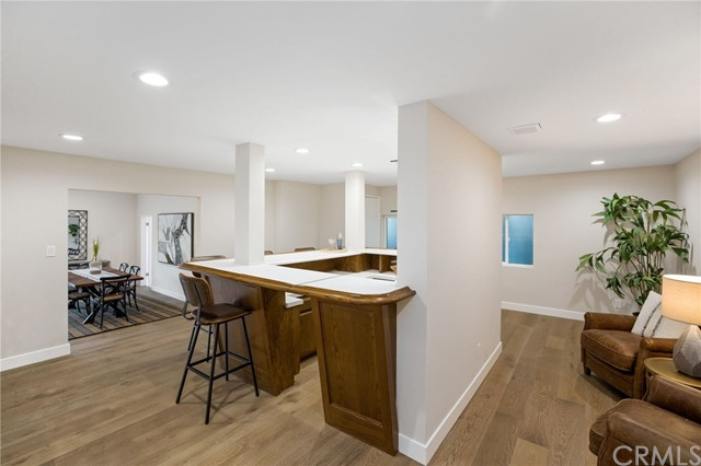 Bar off the family room