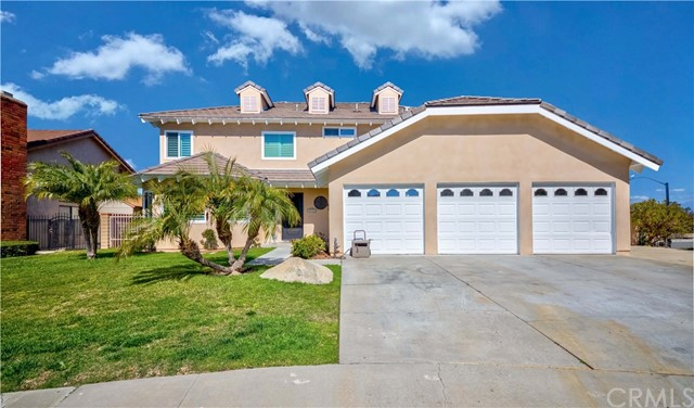 Luxury living in the prestigious city of Diamond Bar! Gorgeous Remodeled Home w/stunning curb appeal nestled on a quiet Cul De Sac! Home offers 4 Bed & 3 bath layout, formal living room, formal dining room, kitchen w/dining nook & breakfast bar opens to the family room w/cozy fireplace, private laundry room & 1/2 bath on main level. Make your way to the second level, Master suite w/private balcony to enjoy the view, fireplace, elegantly remodeled en-suite bath w/dual sinks, huge walk-in shower & vanity space. 3 remaining bedrooms are generously sized & share a full size remodeled hallway bath! Nicely sized backyard with covered patio and lush greenery! BONUS FEATURES; Brand New Stucco, Wood & Exterior Paint, New Custom Front Door, Newly Remodeled Master Bedroom, Dual Pane Windows w/alarms, Shutters, New Backyard Landscaping/Plumbing, Crown Molding, Recessed Lighting, Mirrored Closet Doors, Central AC/Heat, 3 car garage w/direct access & So Much More! Home is centrally located near Great Walnut School District schools, dining, shopping, parks, entertainment & easy freeway commute! Don't miss this once in a lifetime opportunity!!