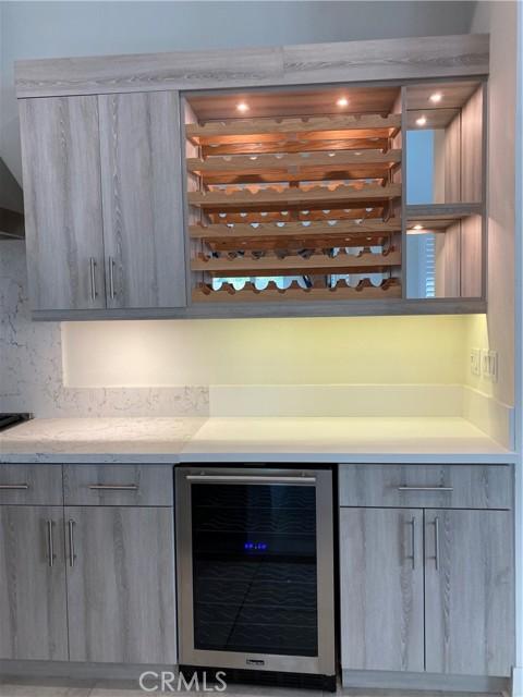 Upgraded wine rack and refrigerator