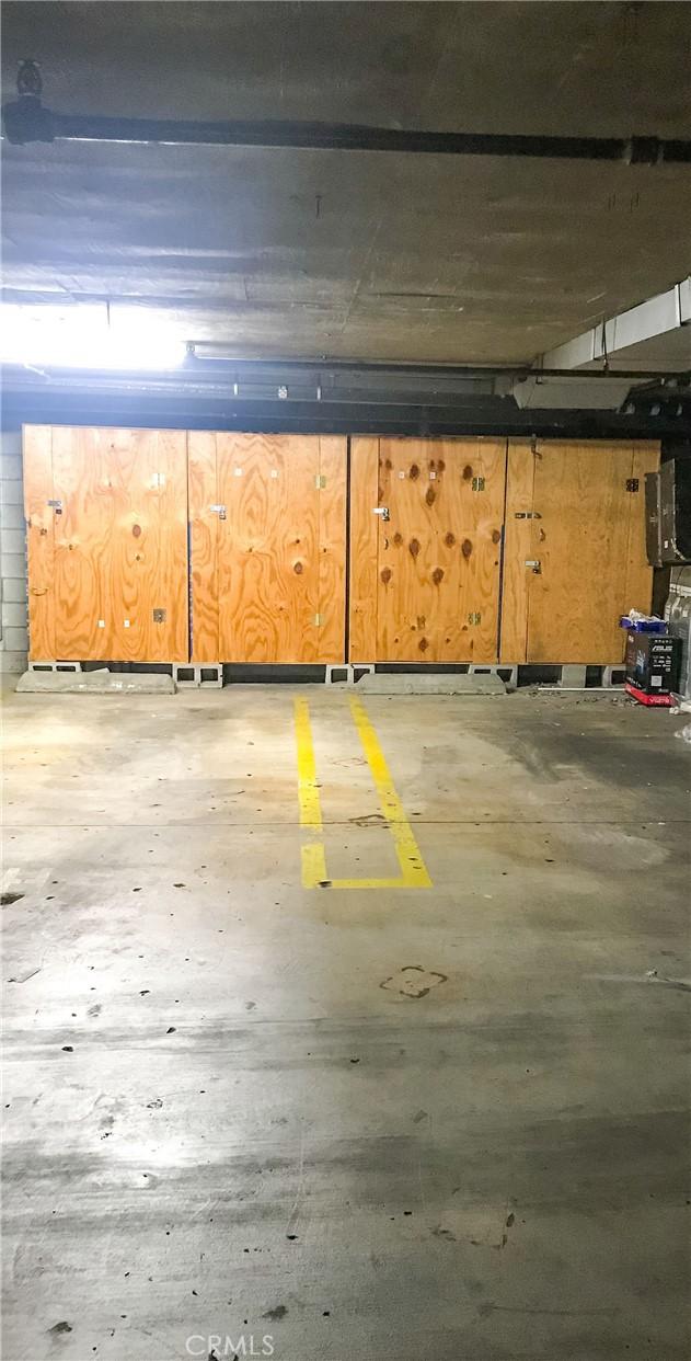 Two car garage, gated and underground.