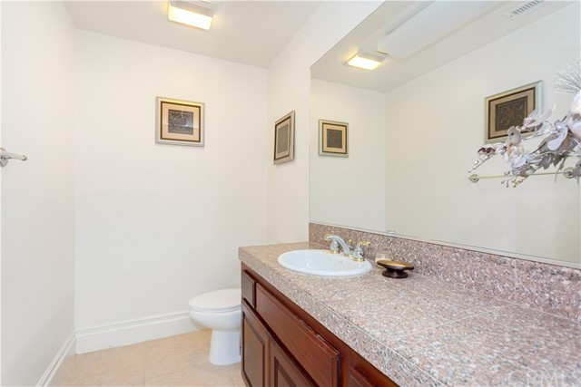 Half Bath on Lower Level Home.