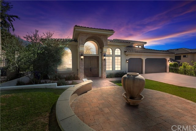 "Stunning ""Tuscan"" Custom Built Estate Located in San Antonio Heights! Enjoy Your Own Private Infinity Edge Pool, Raised Spa, BBQ, Views of the Mtns, Valley,Trees,Woods & Your Privacy All in Your One of a Kind Custom Villa! No stone has been left unturned from Hardscape to Softscape to Interior Appointments. Beautiful Front Courtyard w/Pavers & Fountain,Gated Entrance,Curb Appeal Galore,Gorgeous Tuscan Style Double Doors. Solid Wood Doors,Soaring Ceilings,Built-Ins, & Hardwood Floors All Throughout Home. Arched Windows,Stylish Roman Shades w/Clean Lines,Granite Counter(s), Crown Moldings,Ceiling Fan(s),Soft Water System,Sophisticated Chandeliers & Staircase keeping w/the Architectural Design of this Home. A Dream Come True Gourmet Kitchen w/Dble Islands, Dble Sinks, ""Professional Viking Series"" Appliances incl. 6 Burner Built-In Range w/Griddle, Built-In Refrigerator, Dishwasher, Dble Ovens, Walk-In Pantry, Breakfast Rm, All Open to a Wonderful Family Room w/Fireplace, French Doors to the Back, 1 Bdrm & 1.5 Baths Down. Master Suite/Retreat w/Fireplace, Wet Bar, Elegant Master Bath w/Dble Sinks, Separate Soaking Tub, Large Walk In Shower, Vanity Area, Huge Walk In Custom Closet, & Dble Doors to Private Balcony! Add'l 3 Bdrms Up w/1 being used as a Bonus Rm w/Private Balcony + An Add'l 2 Baths Up. Laundry Up w/Built-Ins & Sink. Paradise Awaits Outdoors w/Inviting Pool, Spa, Waterfall, BBQ w/sink, Covered Patio w/Fireplace, 4 Car Tandem Garage,& more! This Beauty Has It All!"