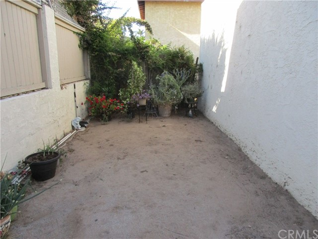 Rear of property next to garage