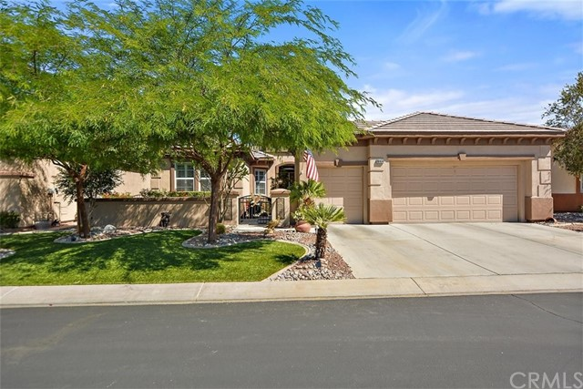 CLICK ON LINK TO TAKE A TOUR - https://unbranded.youriguide.com/80614_prestwick_pl_indio_ca/ Welcome to 80614 Prestwick! Guard gated 55+ community! Beautiful single story located in Heritage Palms Country Club at the end of a cul-de-sac. Spacious family room with custom built ins, cozy fireplace, and big bright windows overlooking the back patio and golf course. It has an Open floor plan flowing into the dining room and the kitchen. The kitchen has granite countertops, a double oven, subway tile backsplash, tons of cabinetry for optimal storage, and a walk-in pantry. Right off the kitchen is the laundry room with access to your 3 car garage (1/2 is a golf cart garage). Large master bedroom with a bay window and ensuite bathroom with a soaker tub, walk in shower, double vanity sinks, and walk in closet. This home also has a great sized guest bedroom and a den that could easily be used as the third bedroom. Backyard retreat overlooking the golf course featuring a spa with a waterfall, mountain views, and a perfect spot to relax under the alumawood pergola! Amenities in the community include indoor & outdoor pools, fitness center, tennis courts, pickleball, billiards room, restaurants, social clubs, and more! Close to shopping centers, restaurants, freeways, and parks!
