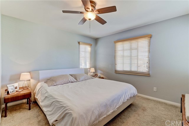 The master suite is light and bright