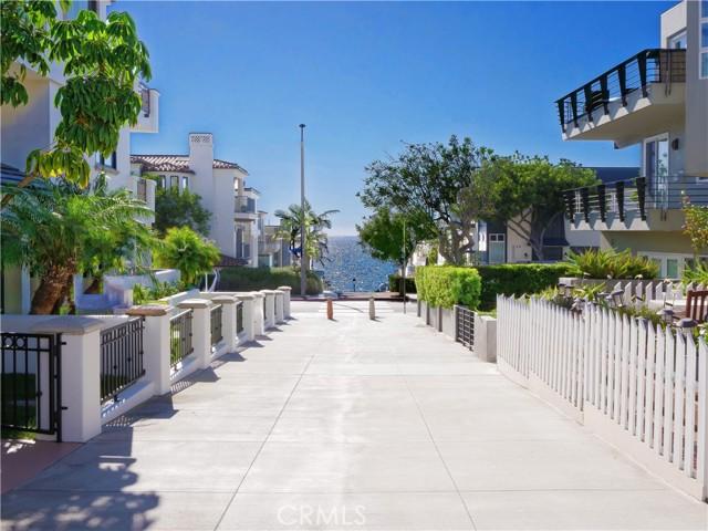 view down walk street