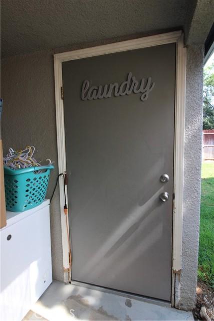 Laundry Room outside