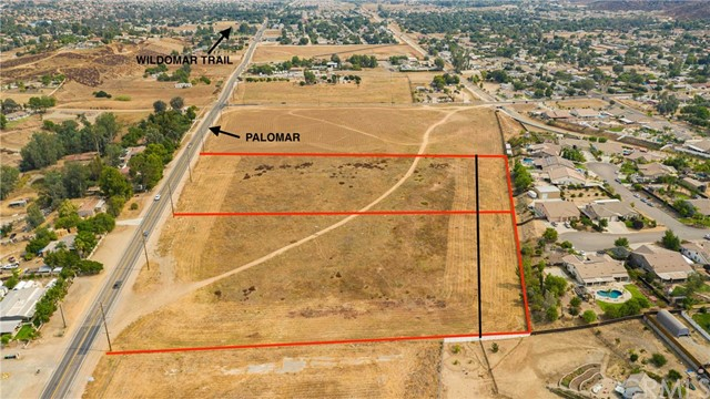 COMMERCIAL LAND 9.56 AC/ 10.38 ACRES GROSS. FRONTAGE ON MAJOR PAVED ROAD. This opportunity is tucked right between Murrieta and Lake Elsinore. Easy Freeway Access. New Tract Development nearby. TOTAL OF 4 PRCLS; INCLUDES APNS 368-060-011, 012, 025 & 026 (CALL L/A REGARDING PRICE-PER-SQFT CALCULATIONS), EXCELLENT OPPORTUNITY FOR COMMERCIAL DEVELOPMENT, C1-CP ZONE-- FAULT STUDY COMPLETED IN 2006, RESIDENTIAL DEVELOPMENT CLOSE BY,CHECK W/CITY, CALL FOR DETAILS .