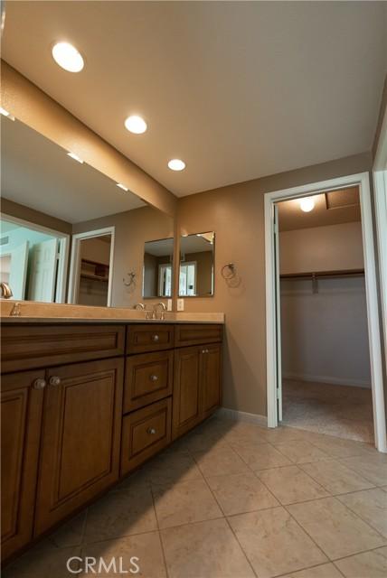 Master Bathroom with walk in closet