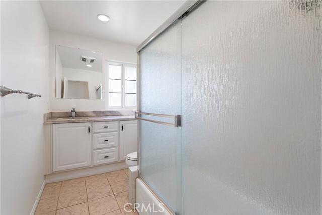 view of hallway bathroom