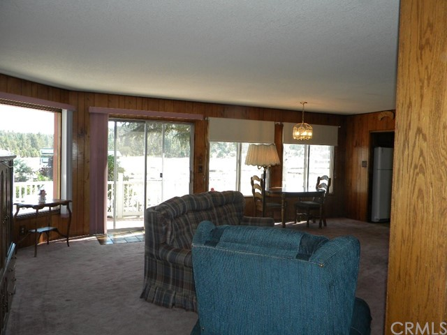 Lots of windows in living/dining room with view of meadows and Shay Mountain.