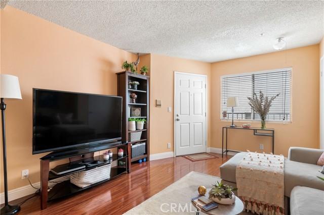 Living room showing the front door