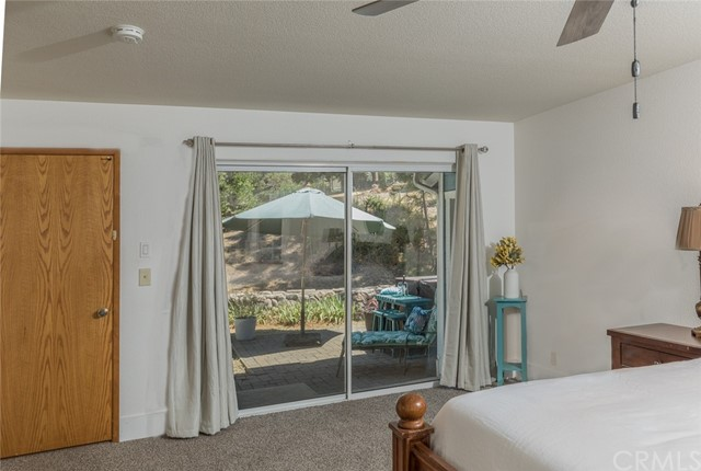Slider in master bedroom to the hot tub!