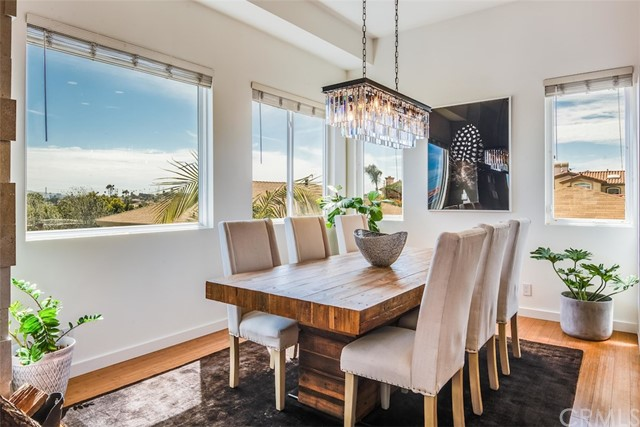 Beautiful dining area with city, neighborhood and PV views in every direction