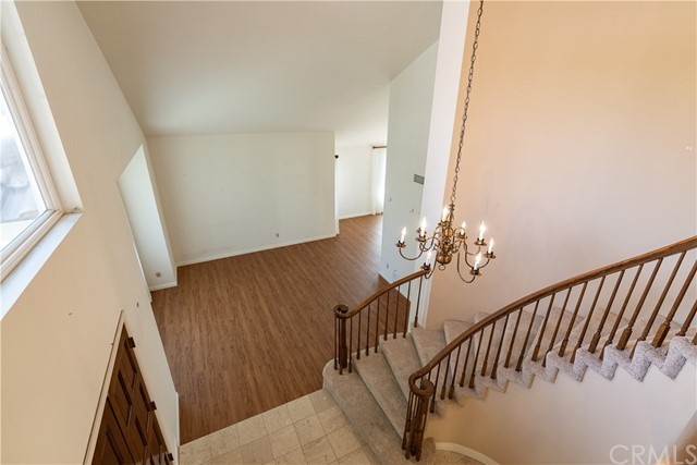 Entry - Stairs and Living Room