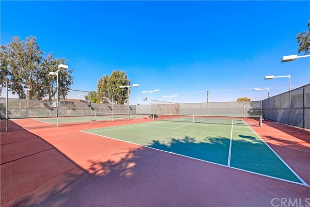 Tennis anyone?  2 lighted tennis courts at Heather Park and available all year long!