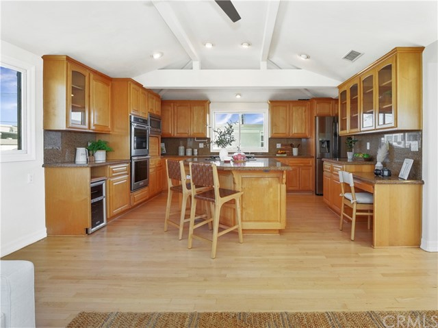 kitchen with newer stainless steel appliances