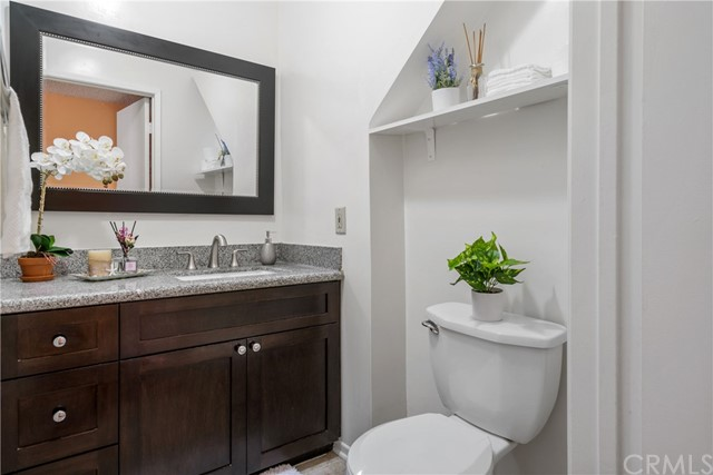 Beautiful powder room located at the first floor of the unit.
