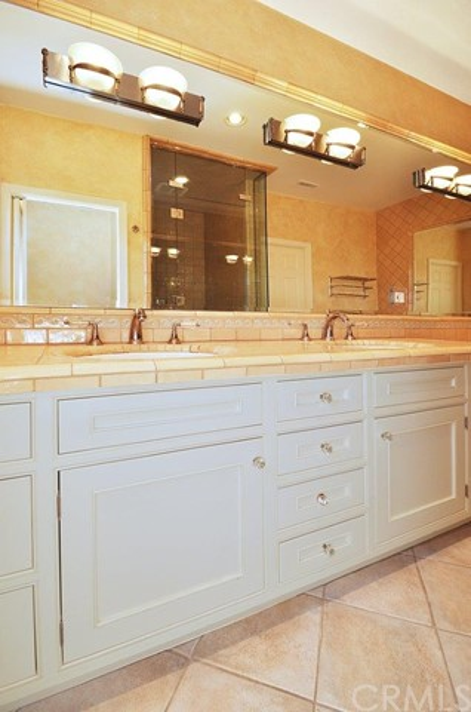 Main bath with dual vanity