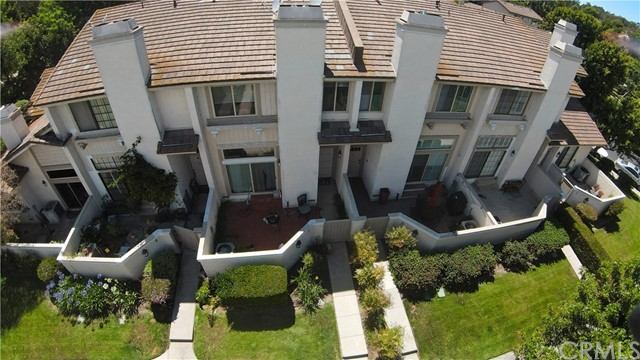 Ariel View of the townhomes.