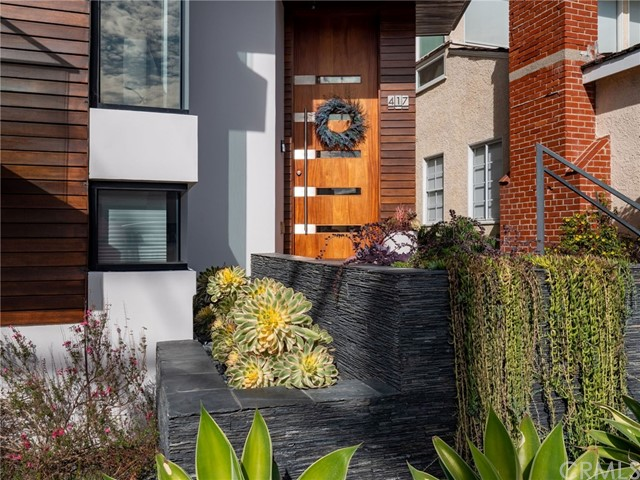 Newly landscaped entry