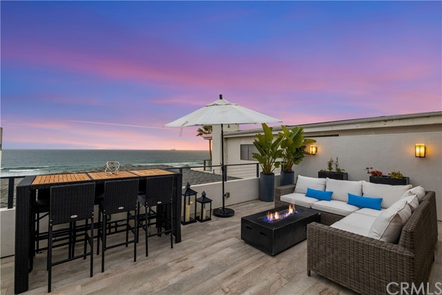 Private entertaining deck off upper level. Tucked back off the strand