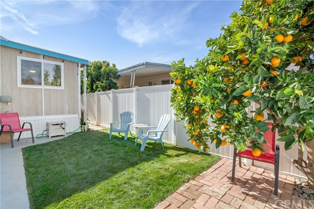 Enjoy a little greenery and a Mature Orange Tree. Perfect for 2 or 4 legged kiddies! Grass is on sprinklers and timer. Another special feature of this great Beach Pad!
