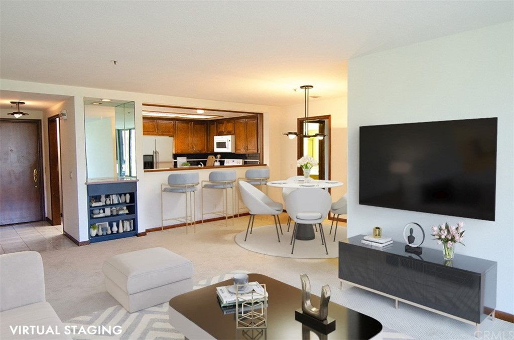 Virtual Staging in Living/Dining Room