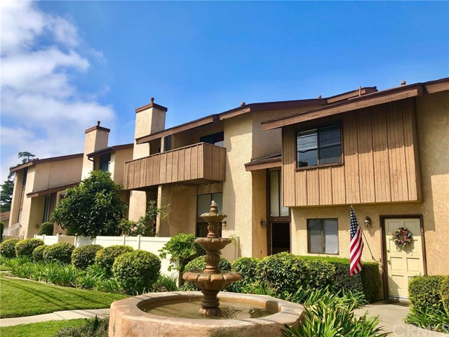 A well maintained spacious townhouse located in the heart of Arcadia, walking distance to 99 Ranch Market, Post Office, Pavilions, LA fitness, Restaurants, banks, and shopping stores. Bright and open living room with cathedral ceiling and gas fireplace, sliding door leading to a private patio for entertaining; Central A/C and heating system; Kitchen with tile floors and spacious eating area, large formal dining room uses as cozy family room; 1/2 bathroom on the lower level, all bedrooms at upper level; Master suite features his / hers closets and mountain view at balcony, 2 Good size bedrooms w/full bathroom; Attached direct access two-car garage with plenty of storage cabinets and laundry area; Gated community pool and spa, HOA trash and water included.