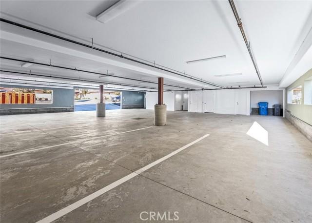 Parking garage beneath units