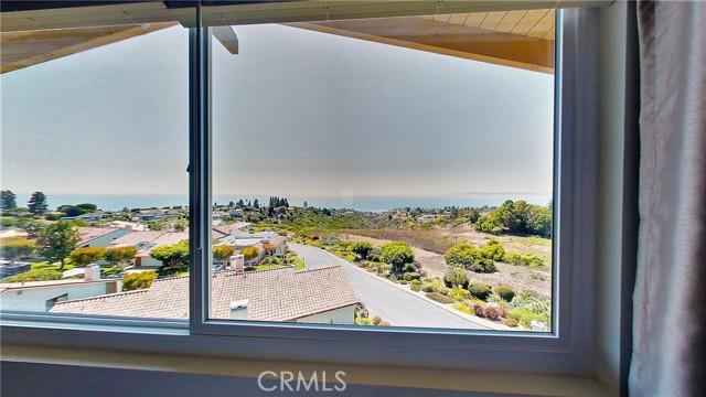 Wide ocean views from the master bedroom Lunada Bay to Malibu.
