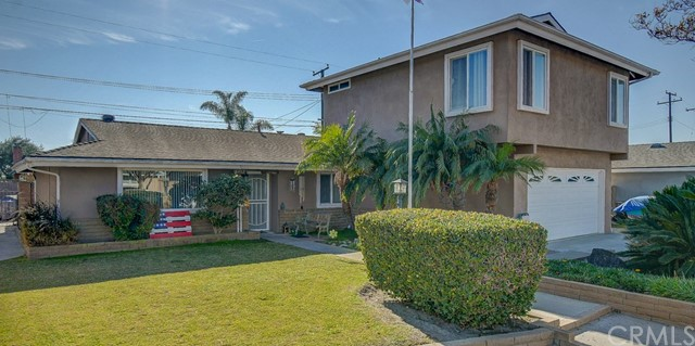 Located  on the west side of garden Grove, This popular Aloha home sits in the heart of Eastgate on a cul-de-sac. This well maintained home has an upstairs Addition that boast two Huge bedrooms upstairs with a upstairs bathroom. The master bedroom downstairs  has an oversized walk-in closet with a beautiful updated masted bathroom. A gorgeous updated kitchen with granite counter tops and an oversized island. In addition to the living room, this home has an oversized family room and an addition bathroom downstairs. Perfect for a small or large family. Come make this house your home.