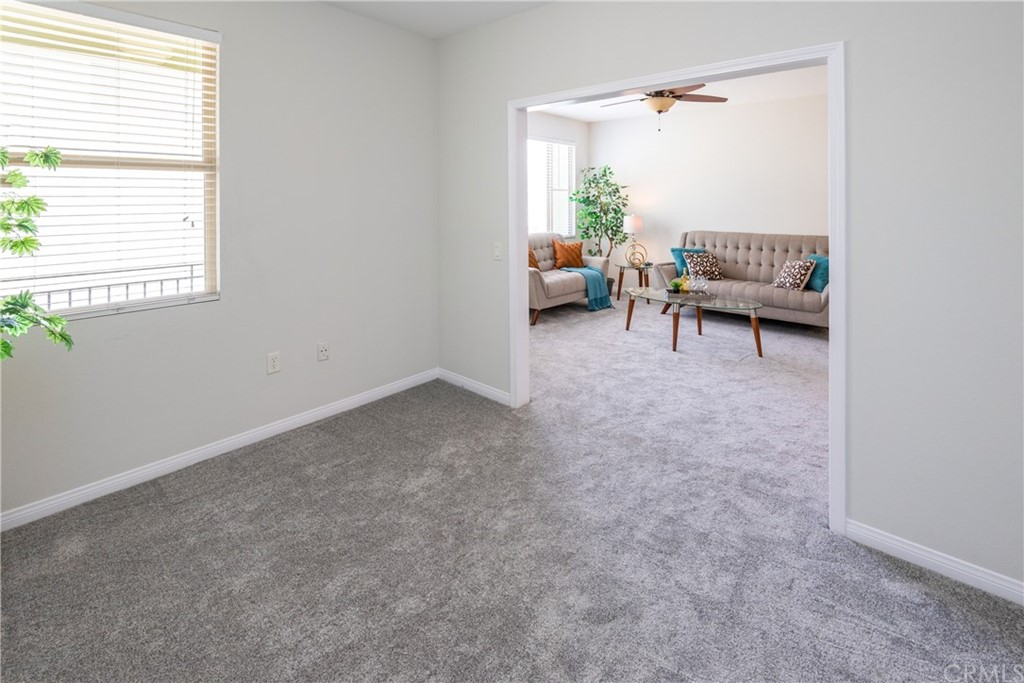 Spacious Den can be an Office, TV Room or Guest Bedroom by Adding a Murphy Bed