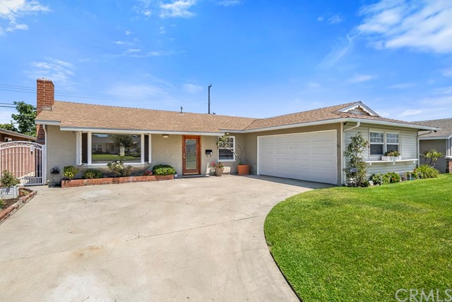 This Eastgate home is in the perfect location. In West Garden Grove, it offers easy access to the 405 and 22 freeways and it is just minutes away from business or play. Just a few blocks from Seal Beach and Old Ranch Country Club to the west or Disneyland and Knott's Berry Farm to the east, it is in the heart of the action, yet the area is tranquil. An expanded Windsor plan, this incredible home offers 4 bedrooms, 2 baths and a family room. It has had meticulous maintenance including fresh paint throughout, new kitchen cabinets, a newer roof, dual pane windows including a gorgeous bay window in front and a solar system (that will be paid off by the Seller through closing.) The back yard is an oasis dedicated to living the California Lifestyle with a stunning salt water pebble finished pool, elevated spa with waterfall and energy efficient variable speed pump. There is a removable safety fence to protect the little ones. The nearby schools are excellent – Enders elementary, Bell middle school and Pacifica High School. The neighborhood is fantastic with planned annual events, concerts in the park, a farmer's market and block parties. This will make a wonderful home for years to come.