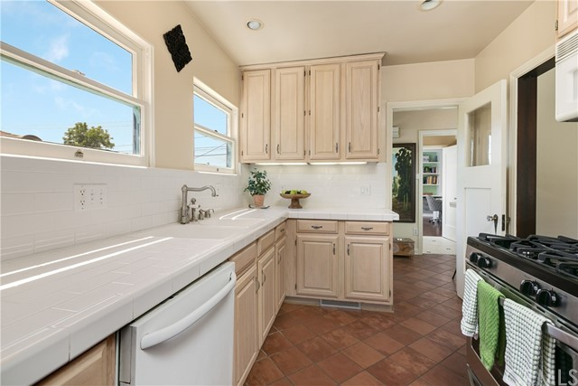 Kitchen and view to the Laundry Room