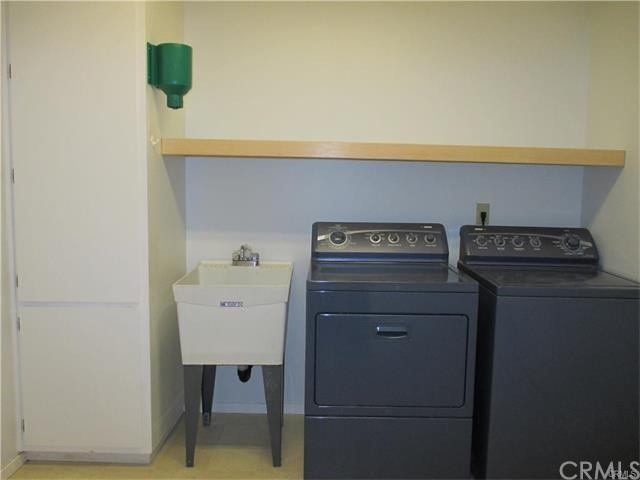 Separate laundry room.  Home has laundry shoot