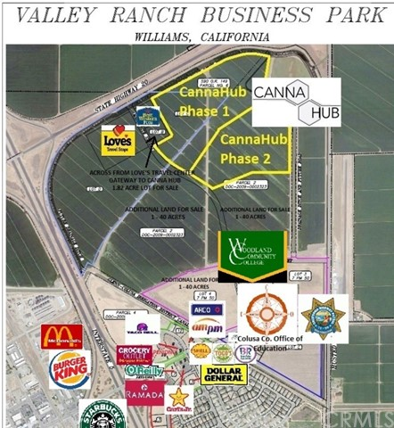 0 Valley Ranch Business Park Properties, Williams, California 95987, ,Commercial Sale,For Sale,Valley Ranch Business Park Properties,SN19181877